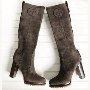 fbd786f33ad3b6 Tory Burch Shoes - Tory Burch Claudia Tall Suede Boot  550 7 M EUC